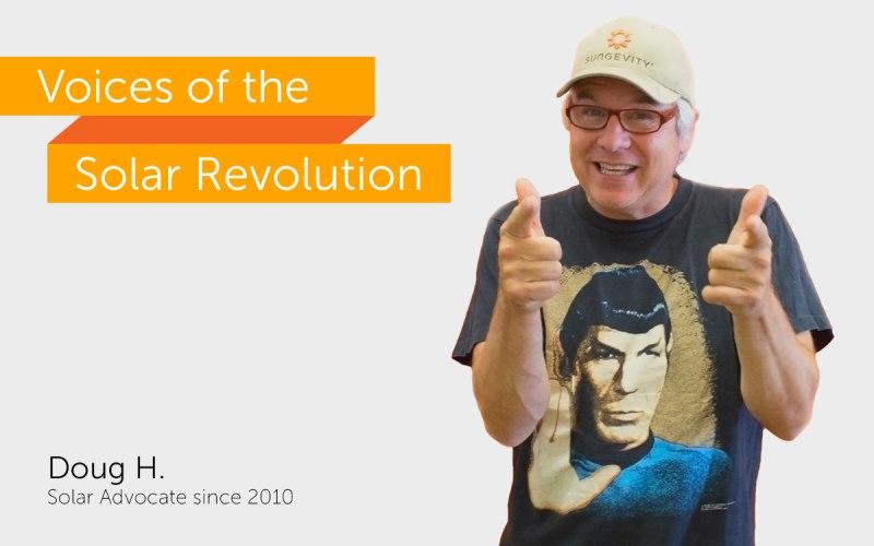 Meet Doug, a voice of the solar revolution.