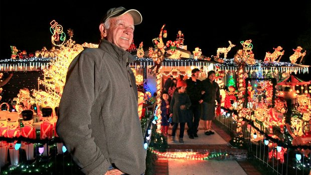Bill Gilfillen, Christmas on Knob Hill's Santa, is a happy solar homeowner.