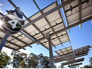 Solar canopies at the San Diego Zoo.